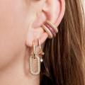 Ear cuff Zircon Stones