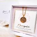 Κολιέ Birth Flower - Marigold for October