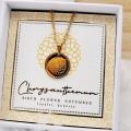 Κολιέ Birth Flower - Chrysanthemum for November